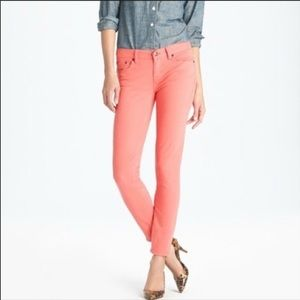 ❤️ 5/25 J. CREW Pink Skinny Matchstick Jeans